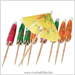 Cookability Cocktail Parasols. Original product image, © Cookability
