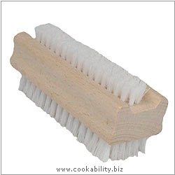 Cookability Nail Brush Wooden Double Sided. Original product image, © Cookability