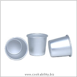 Silver Anodised Dariole Mould. Original product image, © Cookability