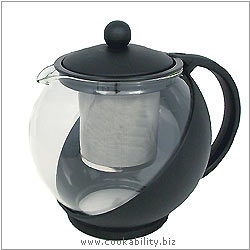 Cookability Glass Teapot. Original product image, © Cookability