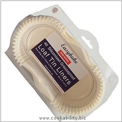 Easybake Loaf Tin Liners. Original product image, © Cookability