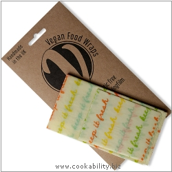 Vegan Food Wrap Kitchen Pack Small. Derived work from original images, © The Beeswax Wrap Co Ltd, used with permission.