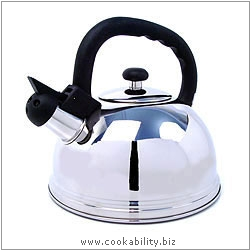 Kitchen Craft Whistling Kettle. Original product image, © Cookability