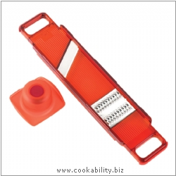 Cooks' Tools Dual  Mandoline Julienne Slice Red. Original product image, © Cookability