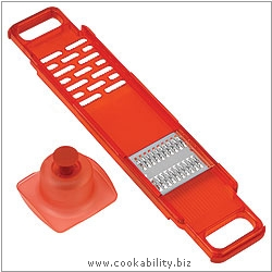 Cooks' Tools Dual Ginger and Julienne Mandoline Red. Original product image, © Cookability