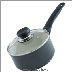 Easy Ceramic Induction Saucepan. Derived work from original images, © Kuhn Rikon (UK) Ltd, used with permission.