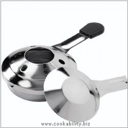 Table Cooking Fondue Paste Burner. Derived work from original images, © Kuhn Rikon (UK) Ltd, used with permission.