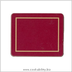 Melamine Coasters Red. Original product image, © Cookability