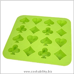 SiliconeZone Choko Poker Chocolate Moulds. Original product image, © Cookability