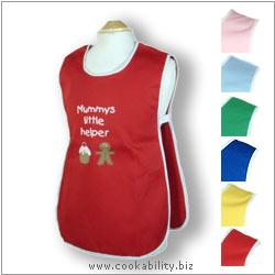 Child's Tabard Mummys Little Helper Age 6-7. Original product image, © Cookability