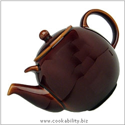 London Pottery Rockingham Brown Teapot. Original product image, © Cookability