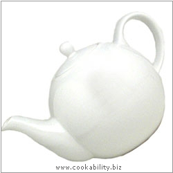 London Pottery White Teapot. Original product image, © Cookability