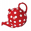London Pottery Red Polka Dot Teapot