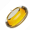 Accessories Glass Tealight Holder Yellow