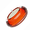 Accessories Glass Tealight Holder Orange
