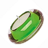 Accessories Glass Tealight Holder Green