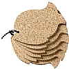 Cork Fish Coasters