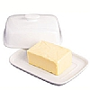 Kitchen Craft Covered Butter Dish White