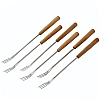 Table Cooking Fondue Forks Bamboo Handle