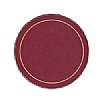 Melamine Coasters Red Round