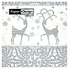 Triple-Ply Two Deers Silver Napkins