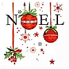 Cookability Xmas Napkins: Noel and Holly