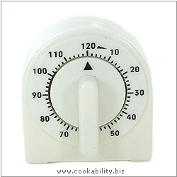 Cookability 2 Hour Count Down Timer. Original product image, © Cookability