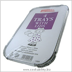 Caroline Foil Trays with Lids. Original product image, © Cookability