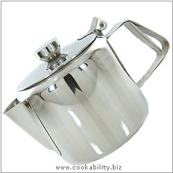 Everyday Stainless Steel Teapot. Original product image, © Cookability