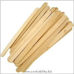 Cookability Wooden Lollypop Sticks. Original product image, © Cookability