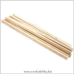 Cookability Wooden Toffee Apple Sticks. Original product image, © Cookability
