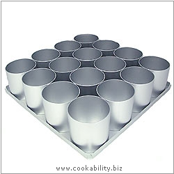 Silver Anodised Mini Round Cake Pan Set. Original product image, © Cookability