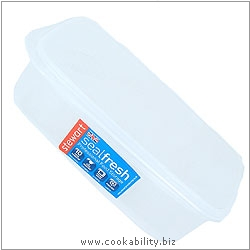 Sealfresh Rectangular Container. Original product image, © Cookability