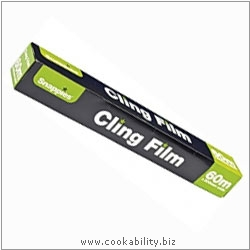 Cookability Cling Film Roll. Original product image, © Cookability