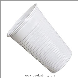 Cookability Plastic Disposable Cup. Original product image, © Cookability
