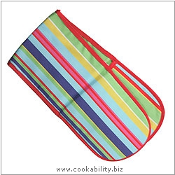 Oven Gloves Brights Barcode Double Oven Glove. Derived work from original images, © Dexam International Ltd, used with permission.
