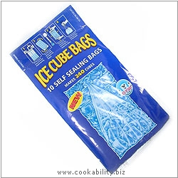 Cookability Ice Cube Bags. Original product image, © Cookability