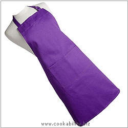 Cookability Purple Apron. Derived work from original images, © Dexam International Ltd, used with permission.