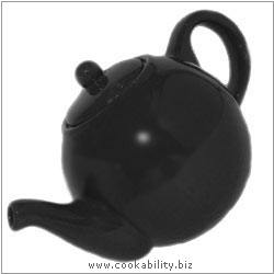 London Pottery Matt Black Teapot. Original product image, © Cookability