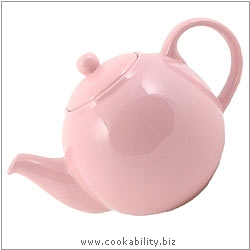 London Pottery Pink Teapot. Original product image, © Cookability