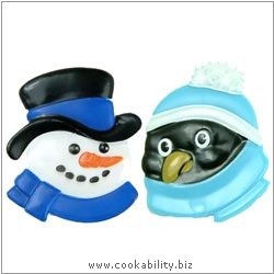 Culpitt Snowman and Penguin Ring Set. Original product image, © Cookability