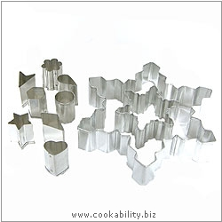 Cookability Christmas Snowflake Cookie Cutter Set. Original product image, © Cookability