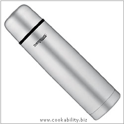Thermos Thermocafe Stainless Steel Flask. Original product image, © Cookability