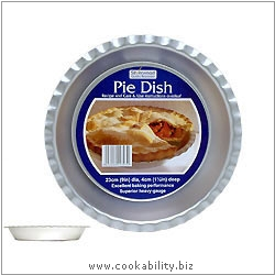 Silver Anodised Pie Dish. Original product image, © Cookability