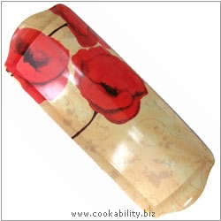 Cookability Poppies Romance Long Drinks Tray. Original product image, © Cookability