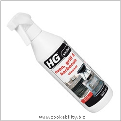 HG Oven, grill and barbeque cleaner. Derived work from original images, © Horwood Homewares Ltd, used with permission.