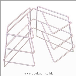 Cookability Corner Plate Rack. Original product image, © Cookability