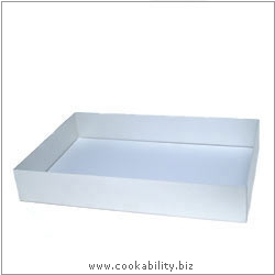 Silver Anodised Baking Tray. Original product image, © Cookability