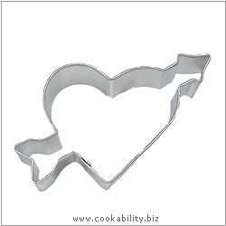 Eddingtons Heart with Arrow Cookie Cutter. Original product image, © Cookability