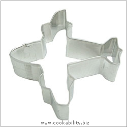 Eddingtons Airplane Cookie Cutter. Original product image, © Cookability